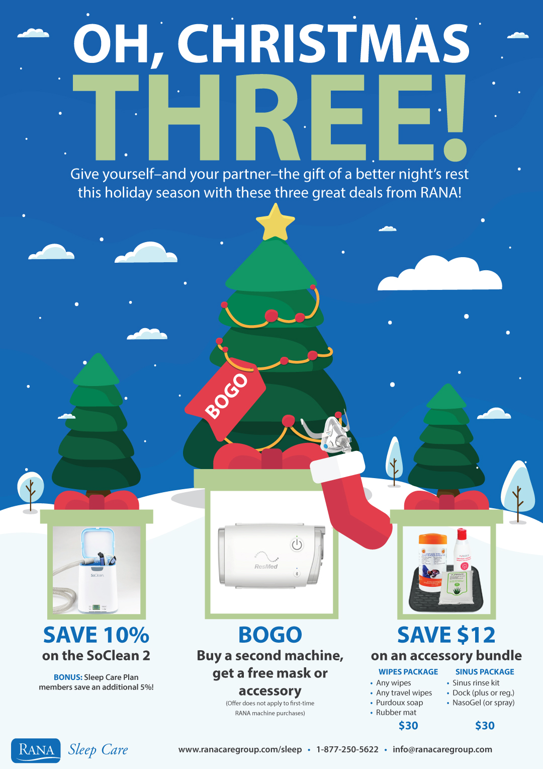 Oh Christmas THREE Holiday Promotion!